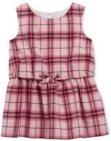 Burberry Gathered Check Cotton Dress