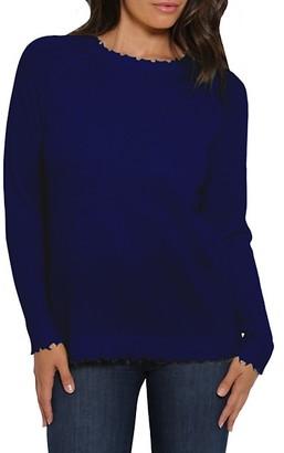 Minnie Rose Distressed Knit Cashmere Sweater