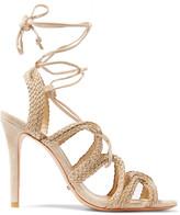 Schutz Nelda braided suede sandals
