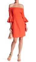 Gracia Off-the-Shoulder Long Ruffle Sleeve Dress