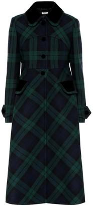 Miu Miu Checked virgin wool coat
