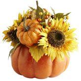 Pier 1 Imports Faux Harvest Pumpkin Floral Arrangement