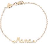 Alison Lou Mama 14-karat Gold Diamond Bracelet