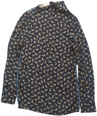 Marni Anthracite Silk Top for Women