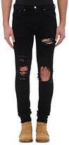 AMIRI Men's Distressed Shotgun Jeans-BLACK