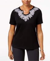 Alfred Dunner In The Limelight Embroidered T-Shirt