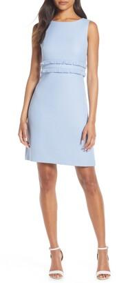 Eliza J Fringe Sleeveless Sheath Dress