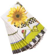 Mackenzie Childs Sunflower Guest Napkins (Set of 15)