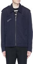 Lanvin Cross stitch patch blouson jacket