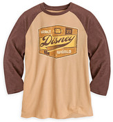 Disney Walt World Raglan Tee for Men - Brown