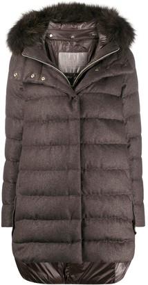 Herno Glitter Effect Puffer Jacket