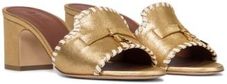 Loro Piana Jovis Charms metallic leather sandals