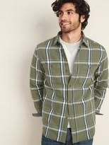 Old Navy Regular-Fit Plaid Twill Shirt for Men