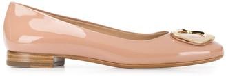 Fratelli Rossetti Metallic Plaque Ballerina Shoes