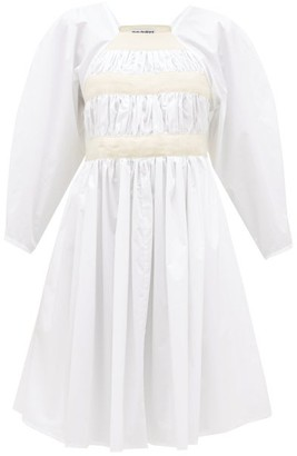 Molly Goddard Shickle Canvas-strap Cotton-paper Dress - White