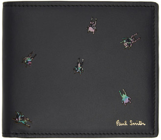 Paul Smith Black Bifold Insect Wallet