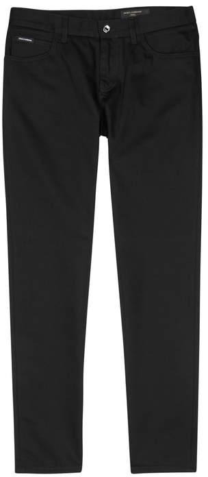Dolce & Gabbana Black Slim-leg Jeans