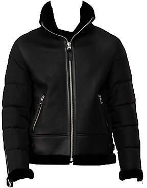 Mackage Men's Ervin Down Faux Shearling-Lined Leather Jacket