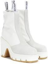 MM6 MAISON MARGIELA Suede-trimmed ankle boots