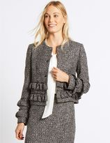 Marks and Spencer Frill Tweed Textured Jacket
