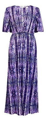 Dorothy Perkins Womens Dp Beach Purple Tie Dye Maxi Dress, Purple