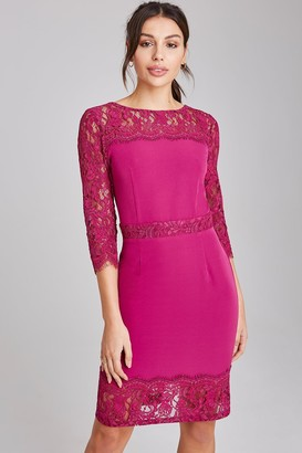 Paper Dolls Tanner Magenta Lace Panel Dress