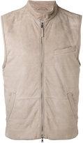 Eleventy lightweight gilet with pockets - men - Cotton/Suede/Polyester/Spandex/Elastane - 48