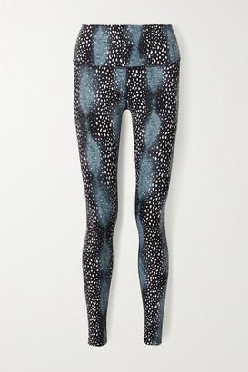 Varley Marina Printed Stretch Leggings - Blue