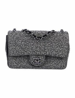 Chanel Strass Classic Mini Rectangle Flap Bag Black