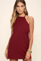 LuLu*s Endlessly Endearing Wine Red Bodycon Dress