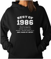 "TeeStars - ""Best of 1986"" 30th Birthday - Unique Gift Idea Women Hoodie"