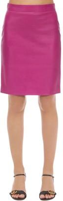 Gucci Leather Midi Skirt