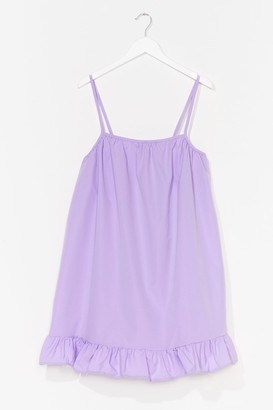 Nasty Gal Womens What Frill It Be Strappy Mini Dress - Lilac