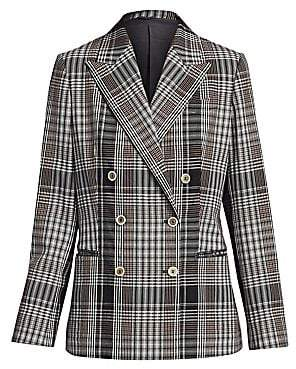 Brunello Cucinelli Women's Plaid Double-Breasted Jacket