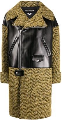 Junya Watanabe Biker-Panel Wool Coat