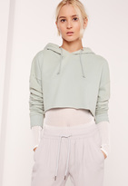 Missguided Cropped Sweatshirt Green