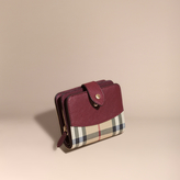 Burberry Horseferry Check And Leather Wallet