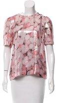 Kate Spade Printed Short Sleeve Top