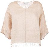 Forte Forte frayed T-shirt - women - Linen/Flax - I