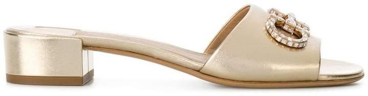 Salvatore Ferragamo embellished block heel sandals