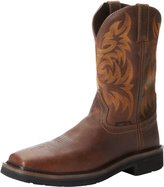Justin Original Work Boots Men's Stampede Collection 11 Inch Boot Composite Stampede Square Toe Boot