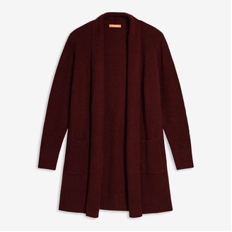 Joe Fresh Women's Long Cardi, Dark Red (Size XL)