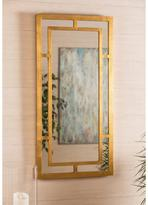 "Cooper Classics ""Benedict"" Goldtone-Framed Hanging Mirror"