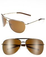 Smith Optics Women's Serpico 65Mm Polarized Aviator Sunglasses - Gold