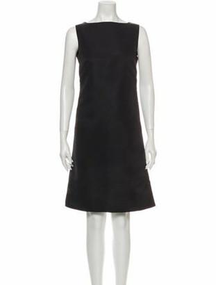 Calvin Klein Bateau Neckline Knee-Length Dress Black Bateau Neckline Knee-Length Dress