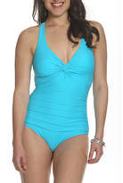 SUN & SEA Sun and Sea Blossom Twist Back One Piece Swimsuit - Plus