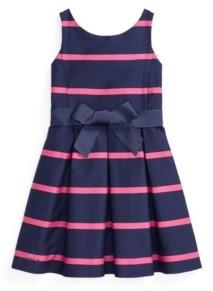 Polo Ralph Lauren Little Girls Striped Sateen Dress
