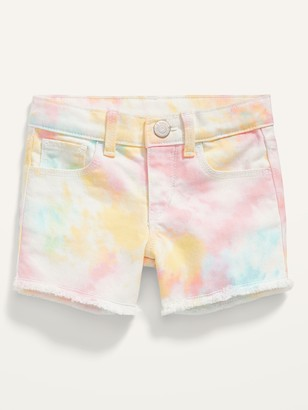 Old Navy Tie-Dye Frayed-Hem Shorts for Toddler Girls
