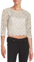 Marina Metallic Crochet Cropped Top