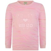 Kenzo KidsGirls Pink Tiger Striped Sweater